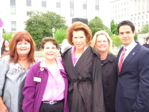 Komen OC Advocates with our founder Ambassador Nancy Brinker (center)