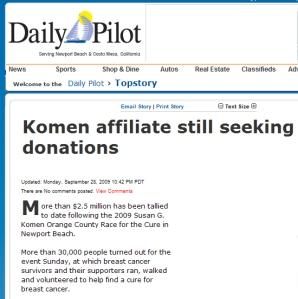 Komen - Daily Pilot