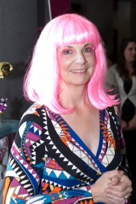 Executive Director Lisa Wolter rocks her pink wig.