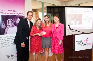 The Cammack Family was recognized as our Most Inspirational Breast Cancer Co-Survivor at the 2012 Survivor Awards.