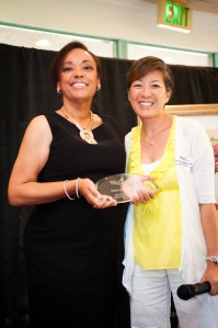 Our 2012 Most Inspirational Breast Cancer Survivor, Marie La Fargue with Board Member Sora Park Tanjasiri, Dr.PH, MPH.