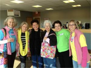 Orange County Komen supporters Angela Acevedo, Charlene Kazner, and Jane Ka'ala travel to the Komen Tissue Bank in Indiana.