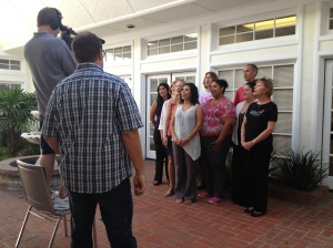 Some of our inspiring employees singing our jingle for the GroundWork group crew.