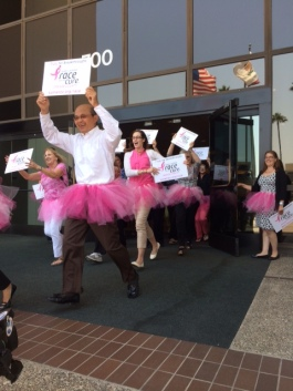 Khanh Tran, President of Pacific Life, leading the way at the Tutu Tour kick-off
