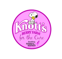 Knott's Berry Farm For the Cure Pink Circle Logo