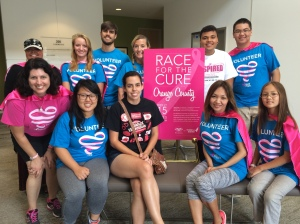 Komen OC and First American Title Insurance Company superheroes took to the phones to rally additional 2015 Race participants.