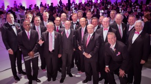 2016 Pink Tie Guys with past Pink Tie Guy classes at the 10th Anniversary Pink Tie Ball