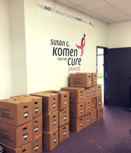 Moving boxes piling up in our Costa Mesa office