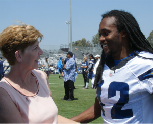 Lisa Wolter and Travis Benjamin
