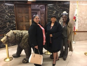 Advocates from Komen Orange County lobbying for breast health care for all.  L to R: Director of Mission Programs Ambrocia Lopez,  Board Member Dr. Devera Heard, and  Community Resource Advocate LarLeslie McDaniel.