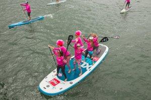 Women paddling